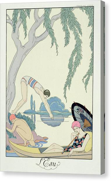 Hat Trick Canvas Print - Water by Georges Barbier