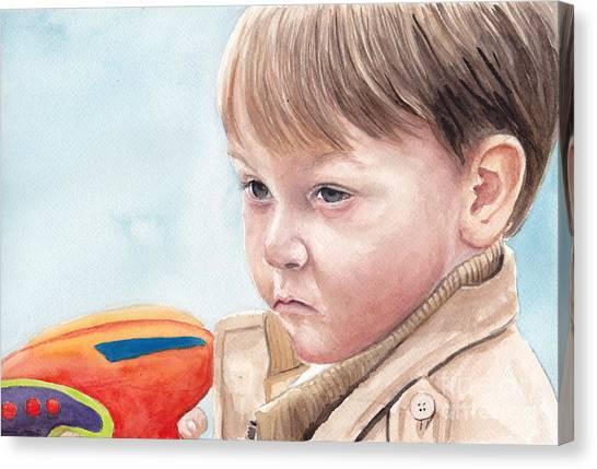 Water Gun Threat Canvas Print by Charlotte Yealey