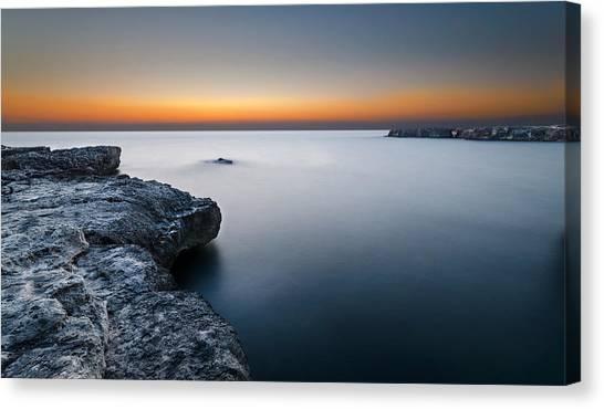 Sunset Horizon Canvas Print - Water Light by Tommaso Di Donato