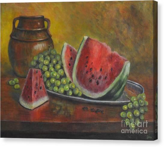 Water Melon Canvas Print by Jana Baker