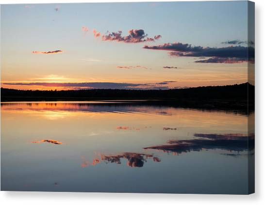 Canvas Print - Water Mimics Sky As The Day Fades by Robbie George