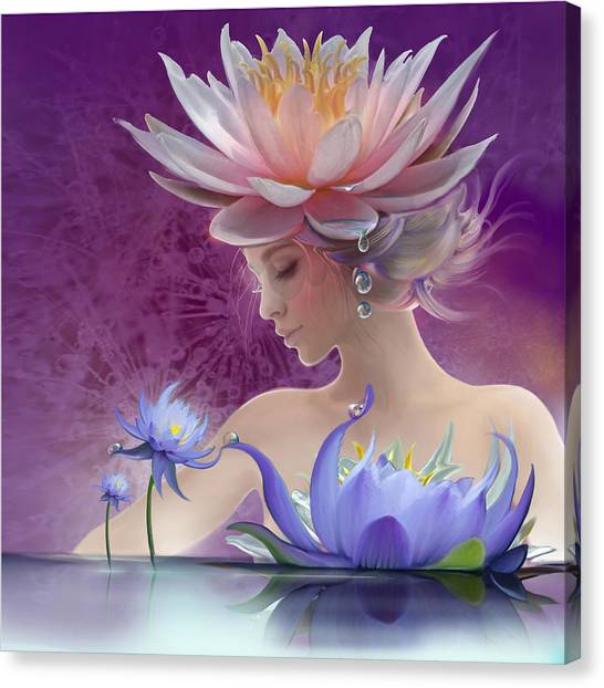 Water Of Life - In Violet Canvas Print