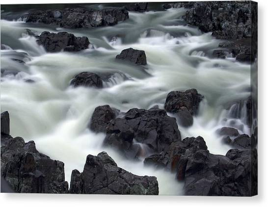 Water Over Rocks Canvas Print
