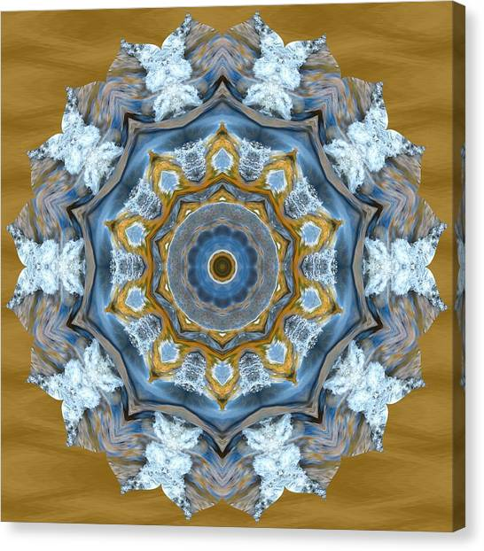 Water Patterns Kaleidoscope Canvas Print