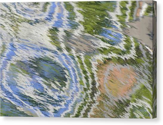 Water Ripples In Blue And Green Canvas Print