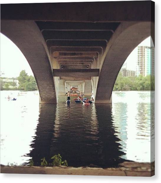 Kayaks Canvas Print - #water #river #roadtrip #atx #austin by Jake Tucker