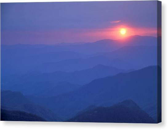 Water Rock Knob Sunset Canvas Print