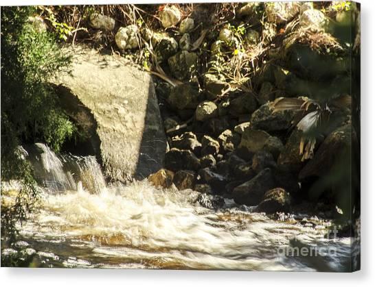 Water Rocks Canvas Print