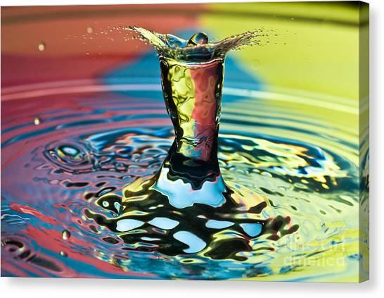 Water Splash Art Canvas Print
