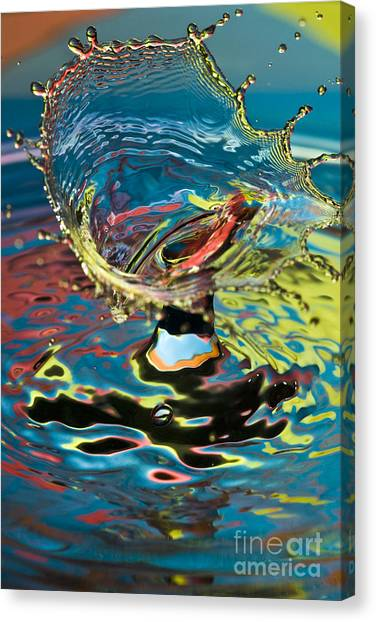 Water Splash Exploding Canvas Print