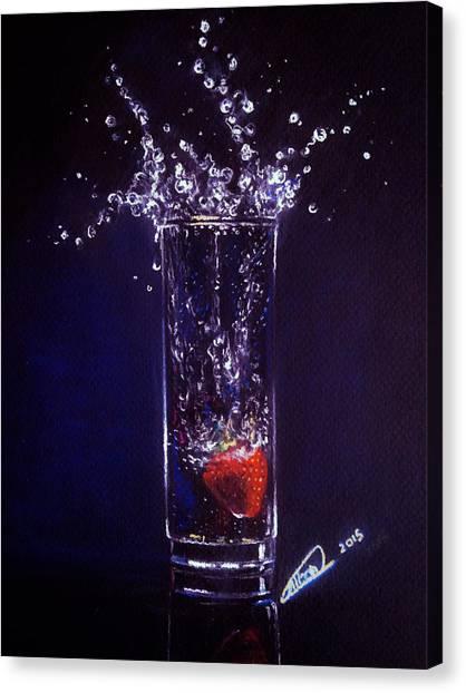 Water Splash Reflection Canvas Print