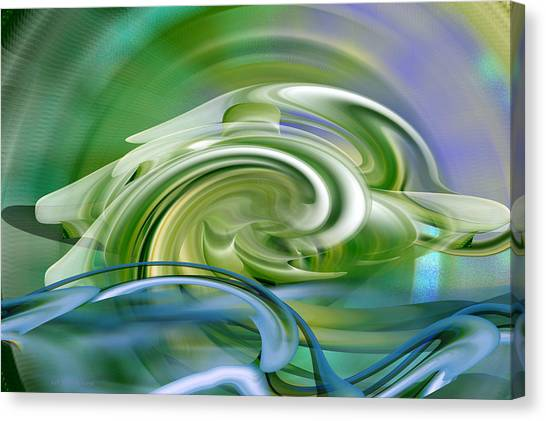 Water Sports - Abstract Art Canvas Print