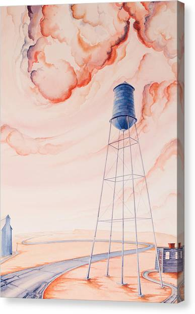 Canvas Print featuring the painting Water Tank II by Scott Kirby