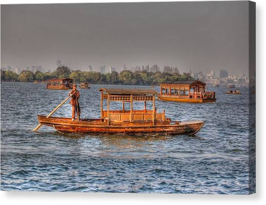 Water Taxi In China Canvas Print