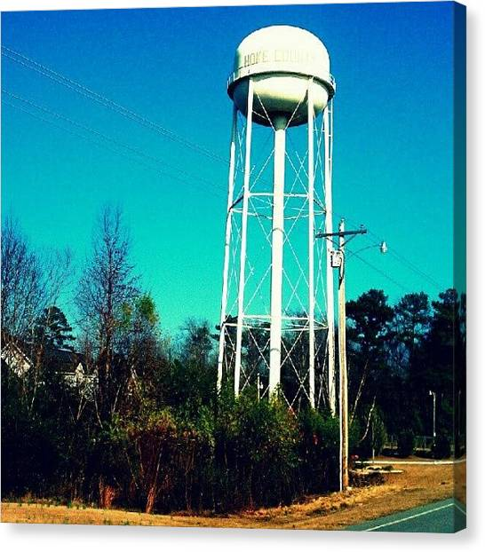 South Carolina Canvas Print - Water Tower by Ashley Woods