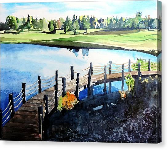 Water Valley Golf Canvas Print