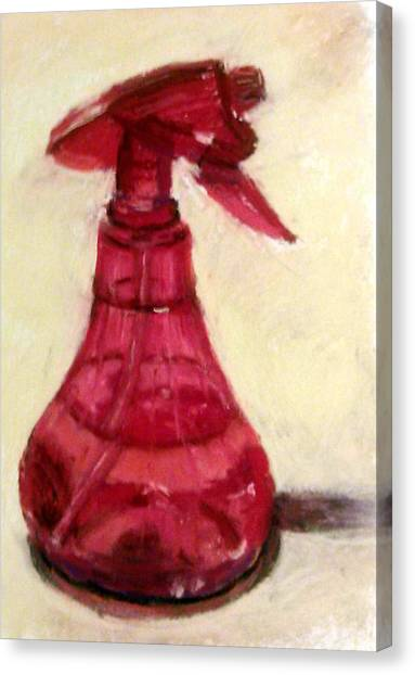 Waterbottle Canvas Print by Donna Lee Hayes