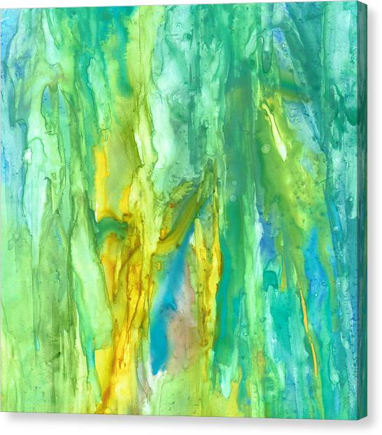 Watercolor Cascade Canvas Print by Rosie Brown