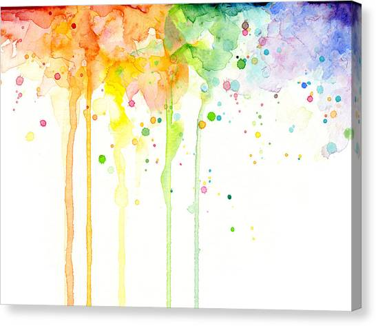 Rainbows Canvas Print - Watercolor Rainbow by Olga Shvartsur