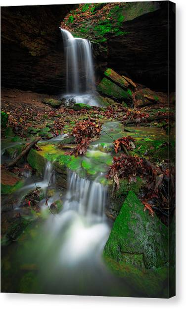 Frankfort Mineral Springs Waterfall  Canvas Print