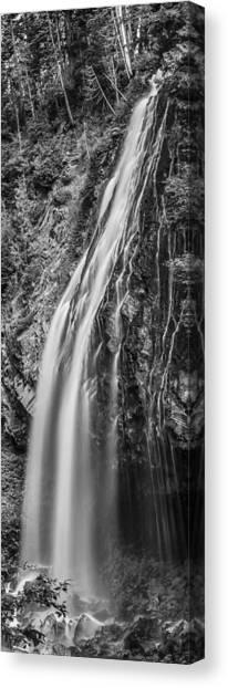 Waterfall 3 Bw Canvas Print