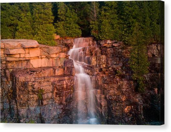 Waterfall Canvas Print by Allan Johnson