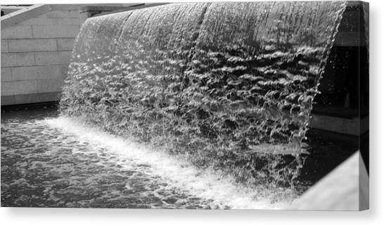 Waterfall At Cityhall Canvas Print