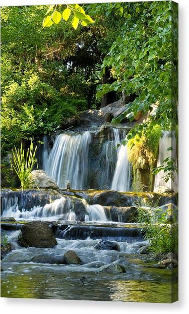 Waterfall At Lake Katherine Canvas Print