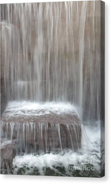 Waterfall At The Fdr Memorial In Washington Dc Canvas Print