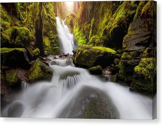 Waterfall Glow Canvas Print