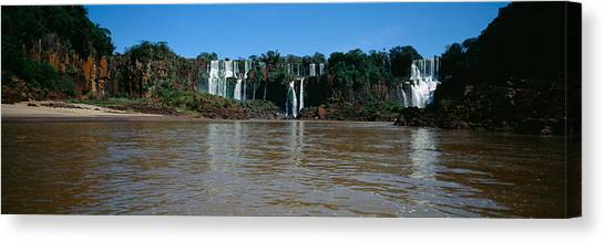 Iguazu Falls Canvas Print - Waterfall In A Forest, Iguacu Falls by Panoramic Images