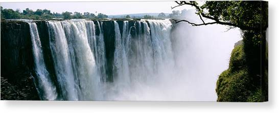 Victoria Falls Canvas Print - Waterfall In A Forest, Victoria Falls by Panoramic Images