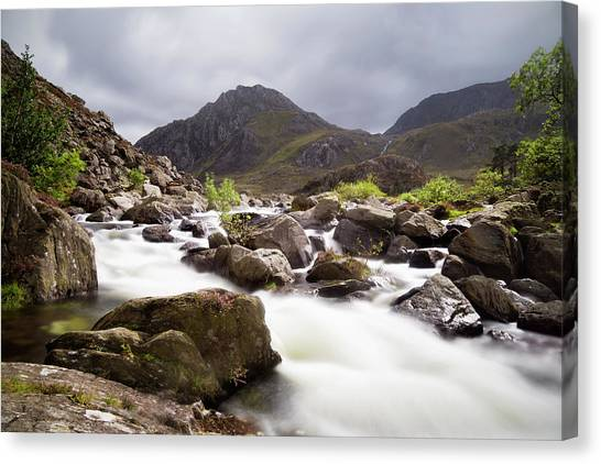 Ogwen Canvas Print - Waterfall In North Wales by Verity E. Milligan