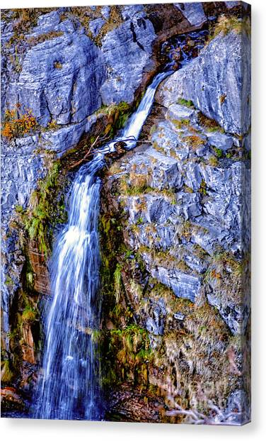 Waterfall-mt Timpanogos Canvas Print