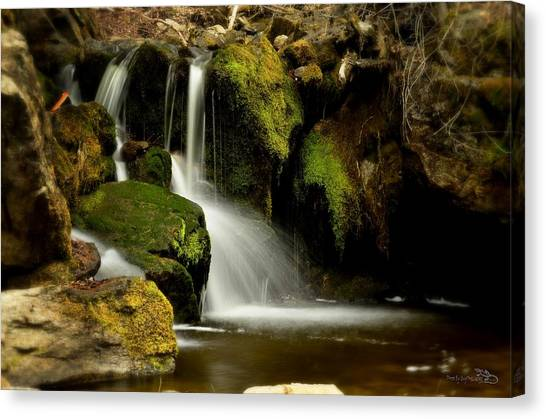 Waterfall - Naramata Dsc0043 Canvas Print