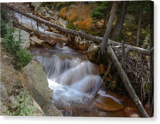Waterfall Near Breckenridge Canvas Print
