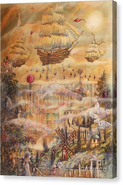 Waterfall Of Prosperity Canvas Print