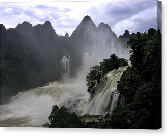 Waterfall Canvas Print by Qing