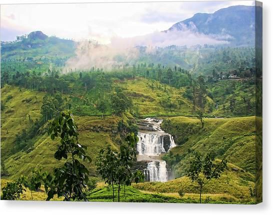 Waterfall Canvas Print by Sanjeewa Marasinghe
