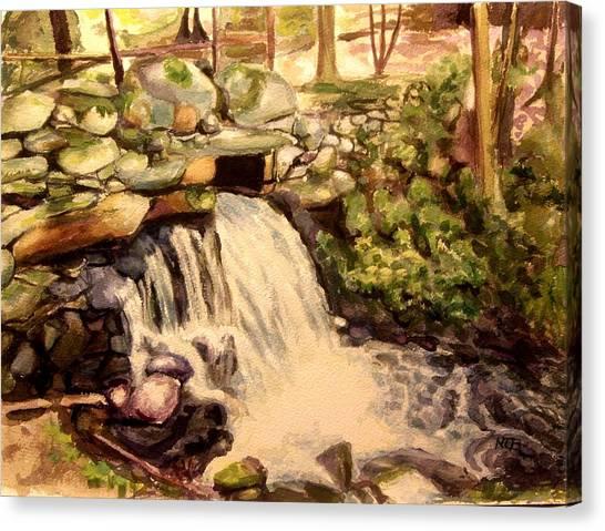 Waterfall Sharon Audubon 12x16 Canvas Print
