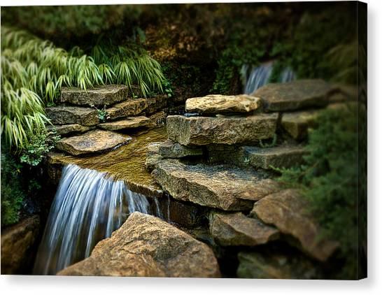 Lush Canvas Print - Waterfall by Tom Mc Nemar