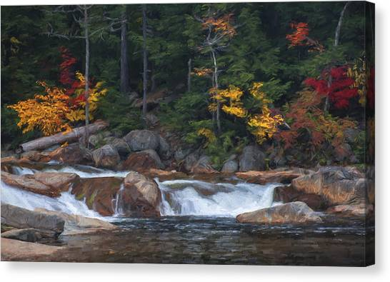 Waterfall - White Mountains - New Hampshire Canvas Print