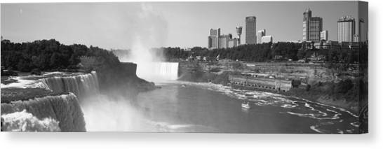 Horseshoe Falls Canvas Print - Waterfall With City Skyline by Panoramic Images