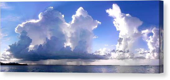 Waterfalls Over Florida Bay Filtered Canvas Print