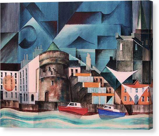 Waterford Canvas Print - Waterford Quays by Val Byrne