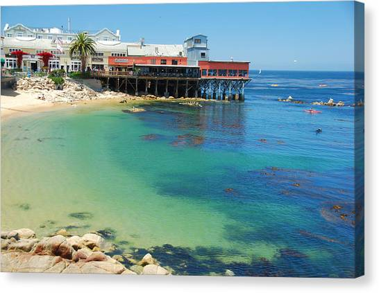 Waterfront At Cannery Row Canvas Print