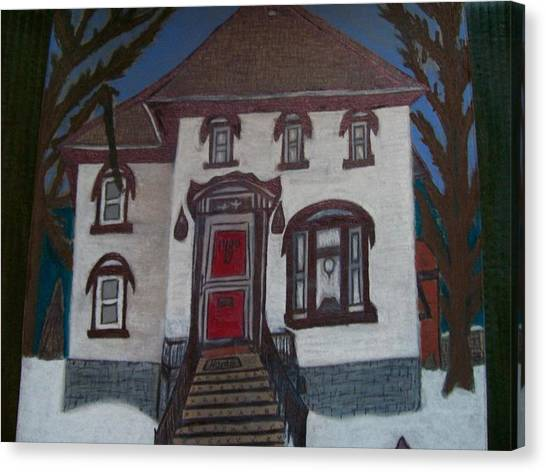 Historic 7th Street Home In Menominee Canvas Print