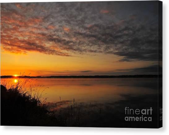 Waterfront Dawn Canvas Print