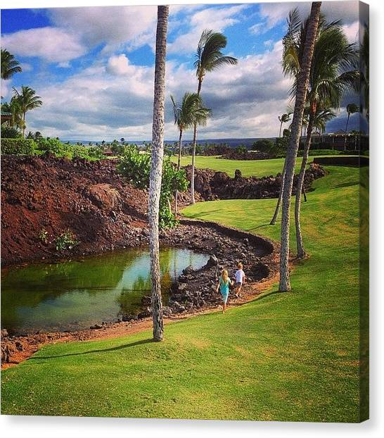 Lava Canvas Print - Water Hazard In Paradise by Eugene Evon