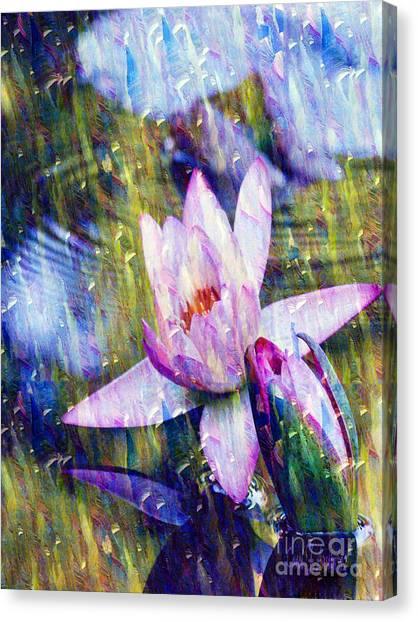 Purple Waterlily Paradise Canvas Print